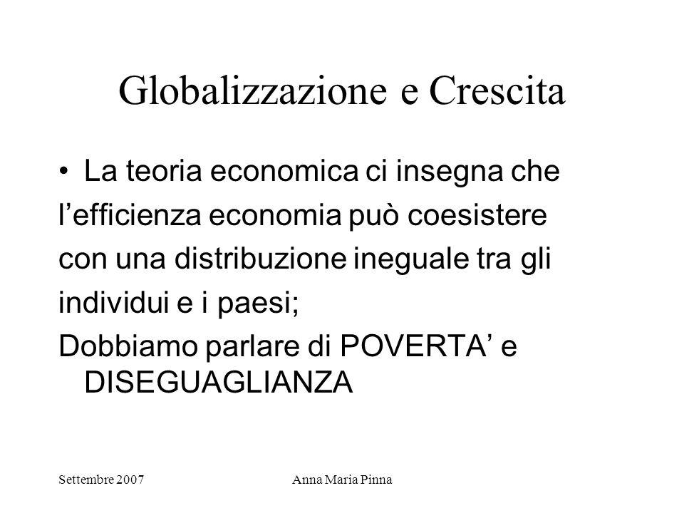 Globalizzazione e Crescita