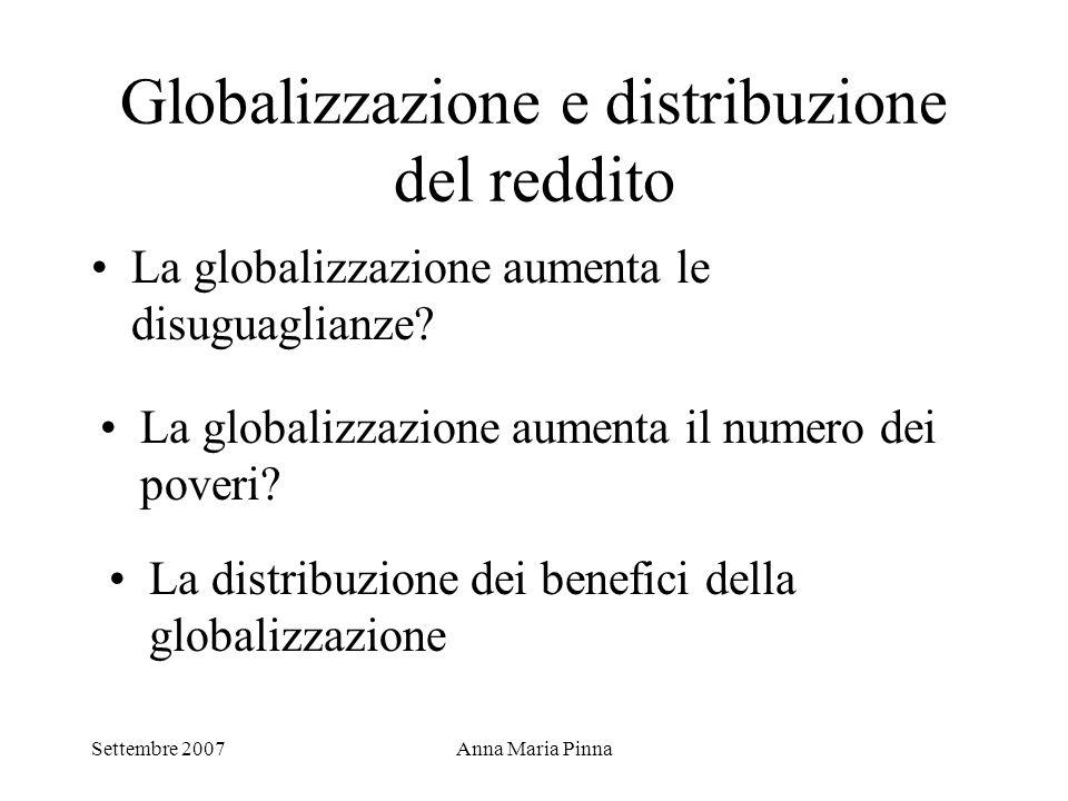 Globalizzazione e distribuzione del reddito