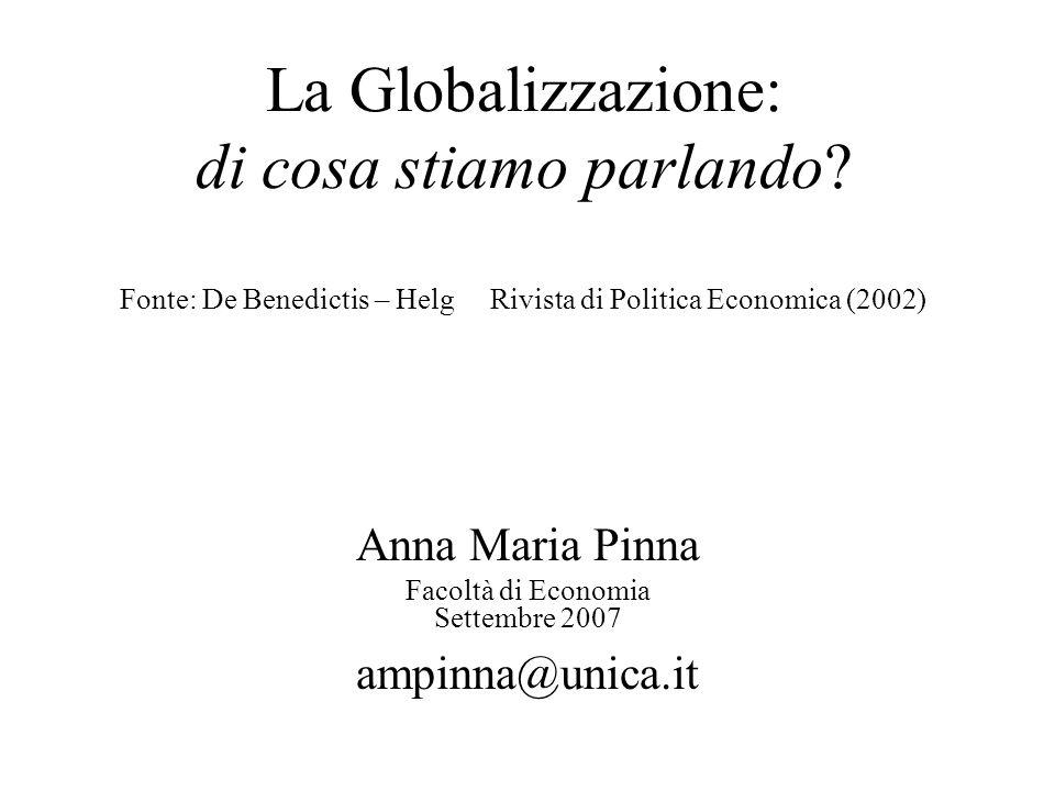 Anna Maria Pinna Facoltà di Economia Settembre 2007 ampinna@unica.it