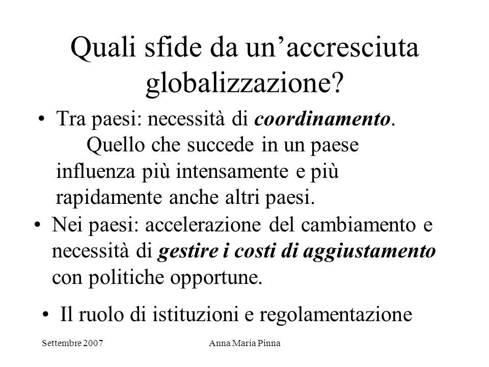 Quali sfide da un'accresciuta globalizzazione