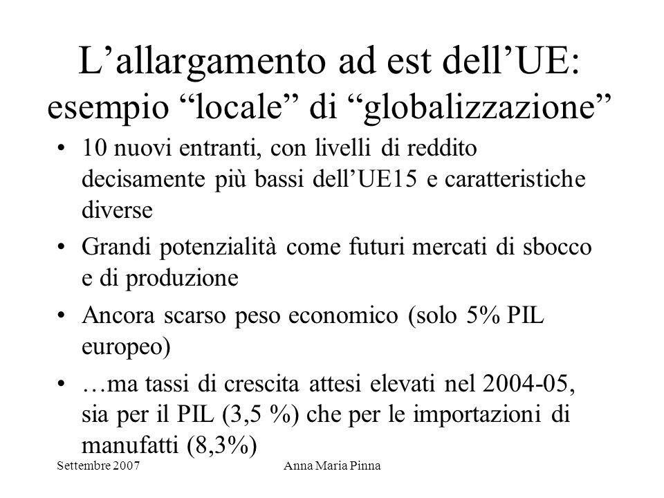 L'allargamento ad est dell'UE: esempio locale di globalizzazione