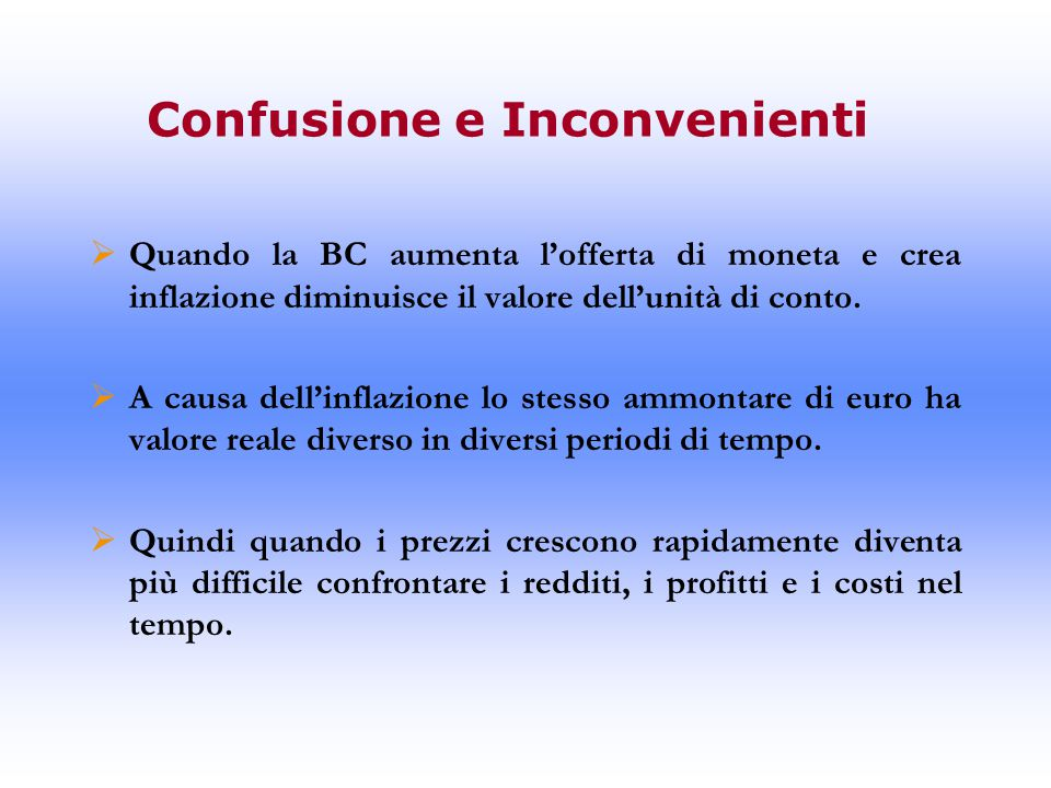 Confusione e Inconvenienti