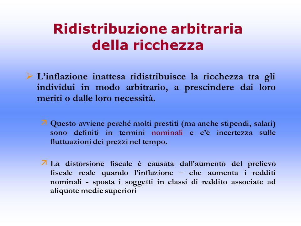 Ridistribuzione arbitraria della ricchezza