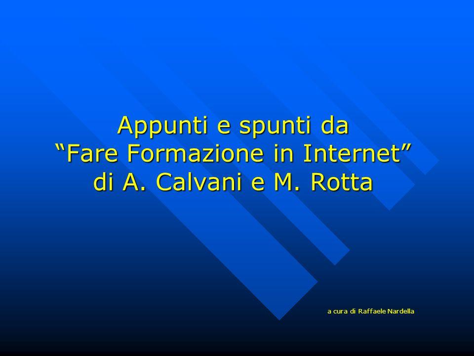 Appunti e spunti da Fare Formazione in Internet di A. Calvani e M