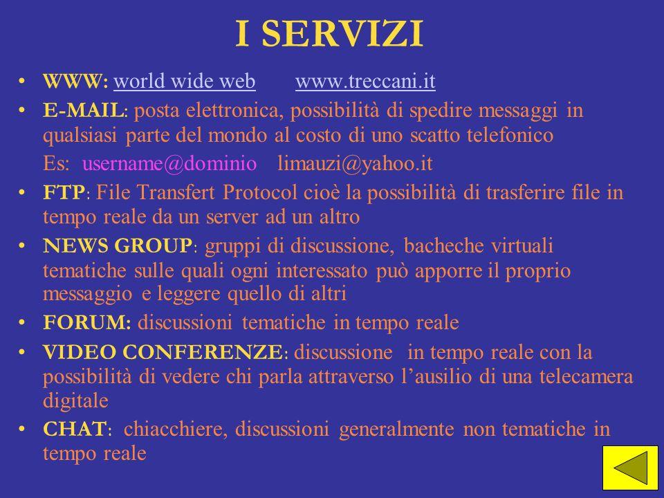 I SERVIZIWWW: world wide web www.treccani.it.