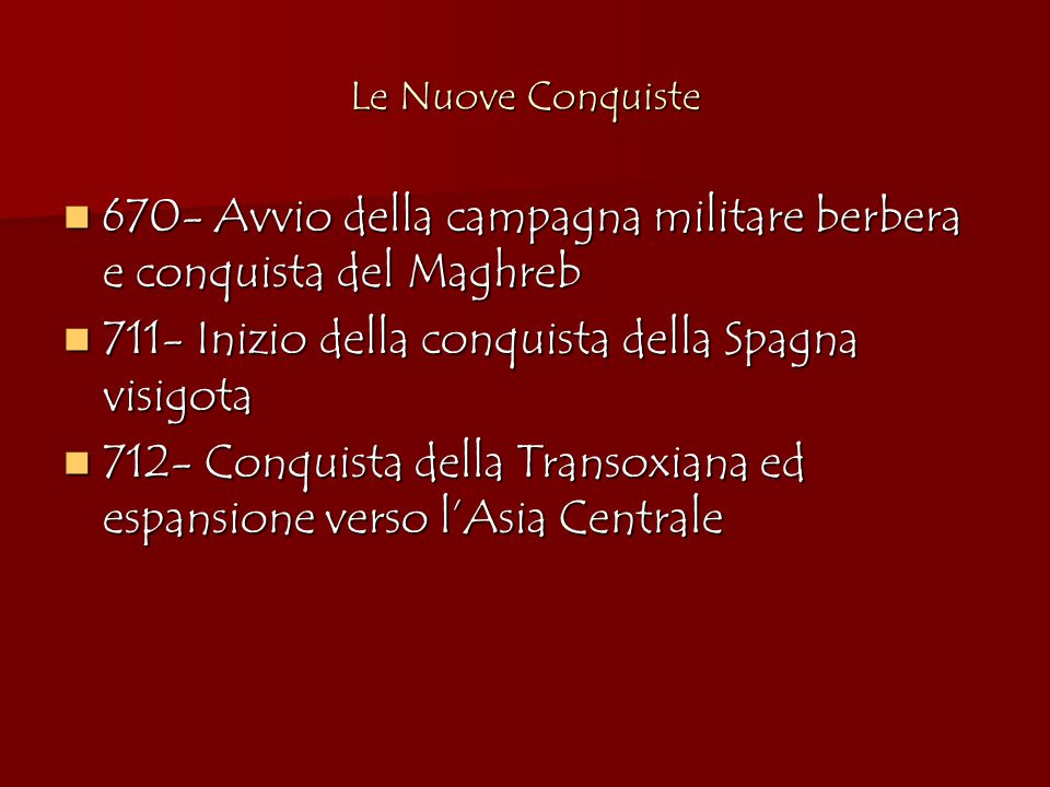 670- Avvio della campagna militare berbera e conquista del Maghreb
