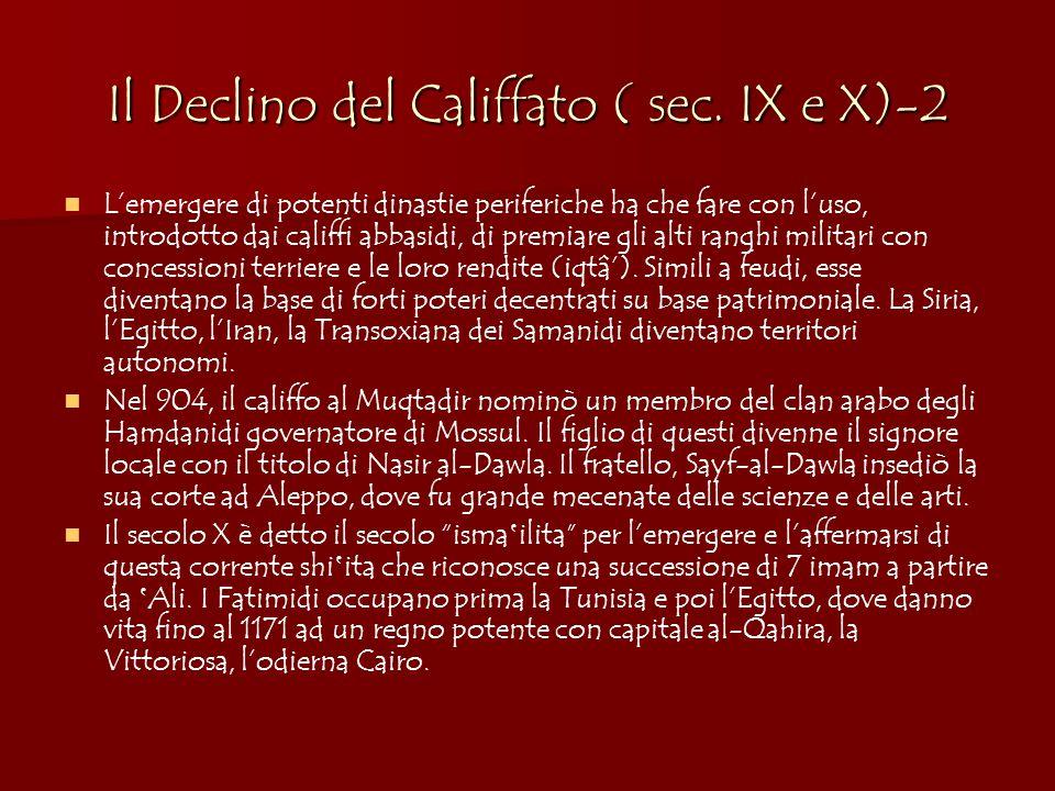 Il Declino del Califfato ( sec. IX e X)-2
