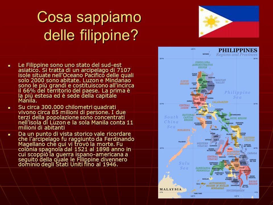 Cosa sappiamo delle filippine