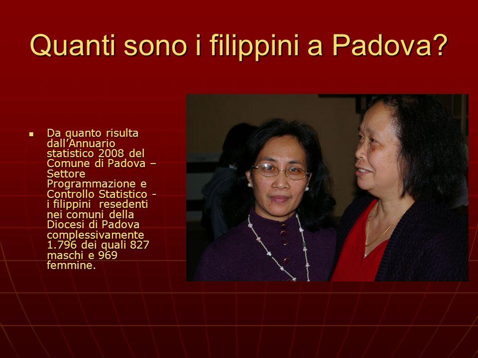 Quanti sono i filippini a Padova