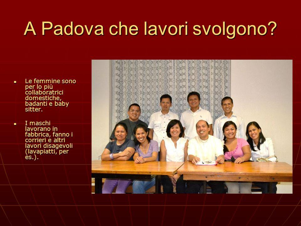A Padova che lavori svolgono
