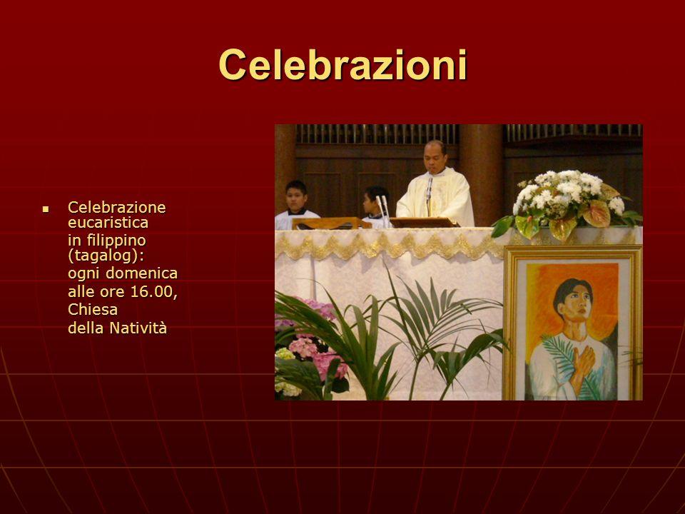 Celebrazioni Celebrazione eucaristica in filippino (tagalog):
