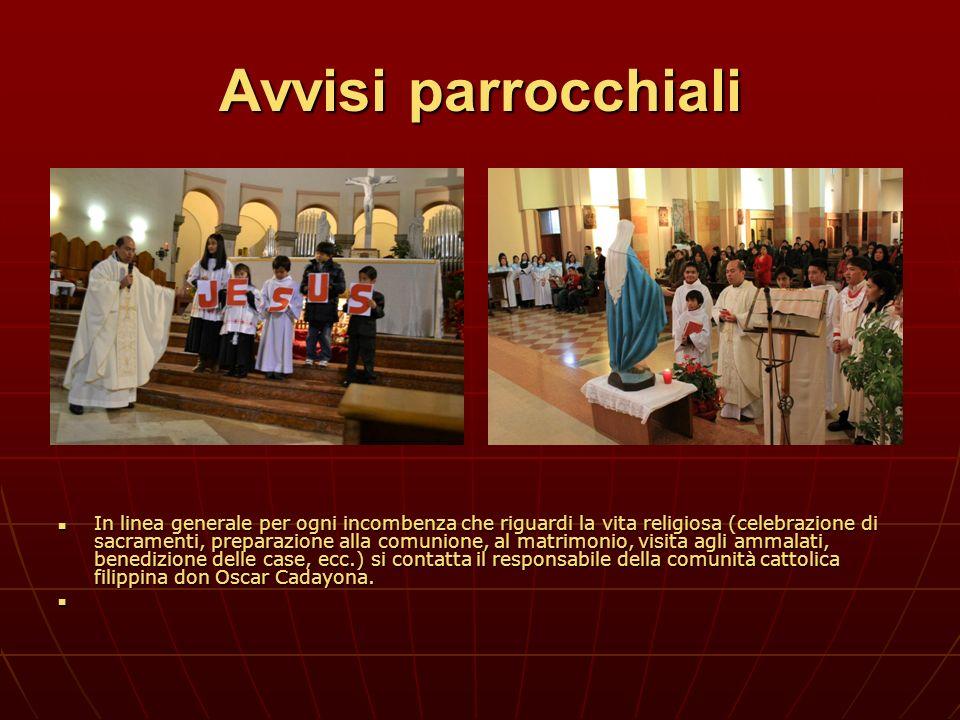 Avvisi parrocchiali