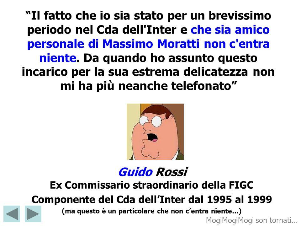 Guido Rossi Ex Commissario straordinario della FIGC