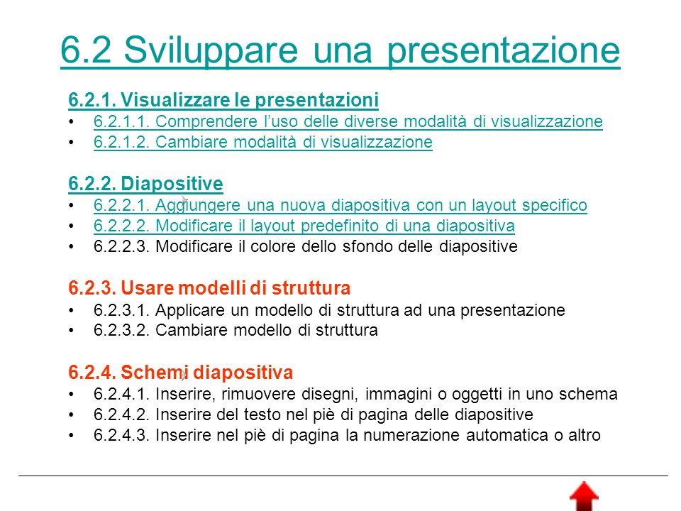 6.2 Sviluppare una presentazione