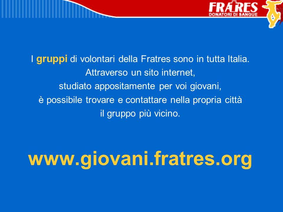 I gruppi di volontari della Fratres sono in tutta Italia.