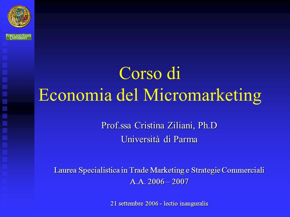 Corso di Economia del Micromarketing