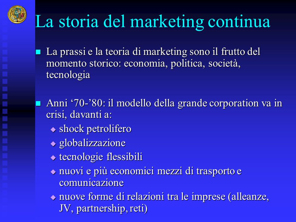 La storia del marketing continua