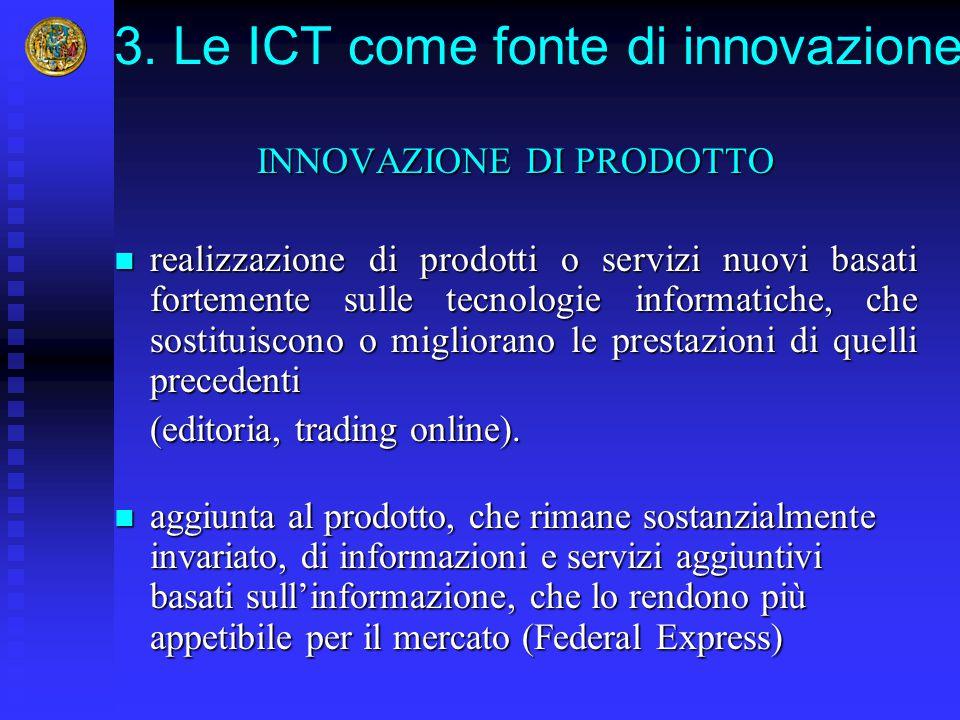 3. Le ICT come fonte di innovazione