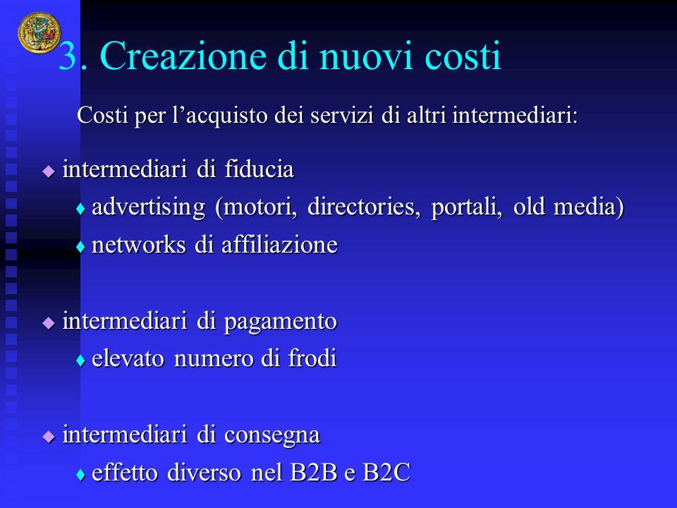 3. Creazione di nuovi costi