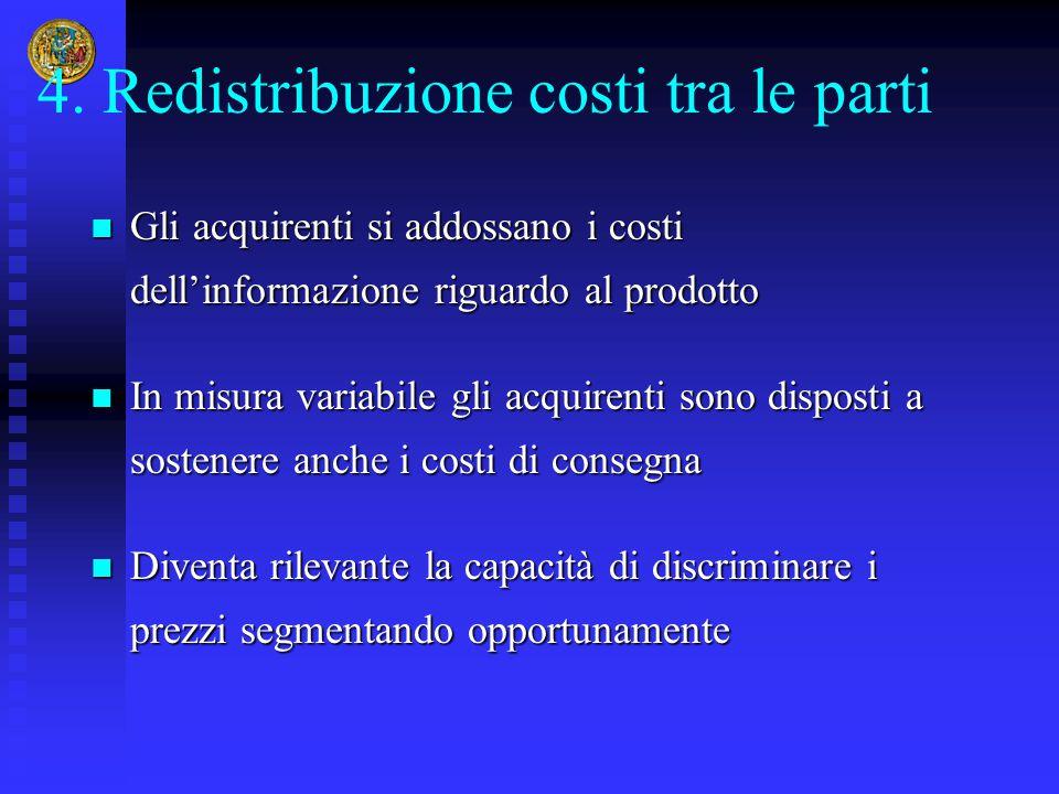 4. Redistribuzione costi tra le parti