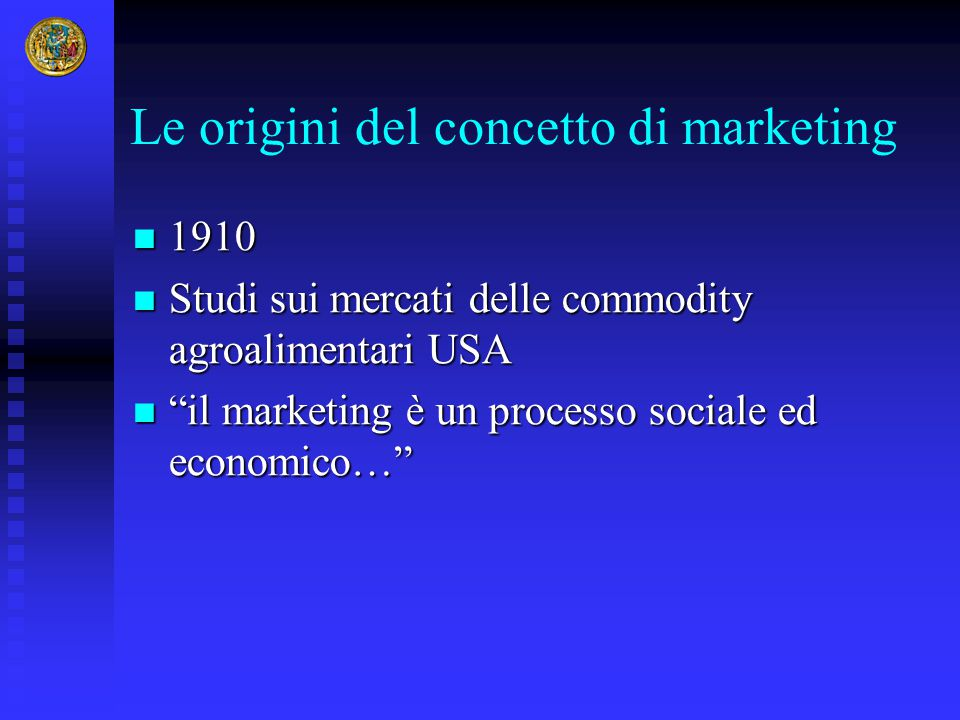Le origini del concetto di marketing