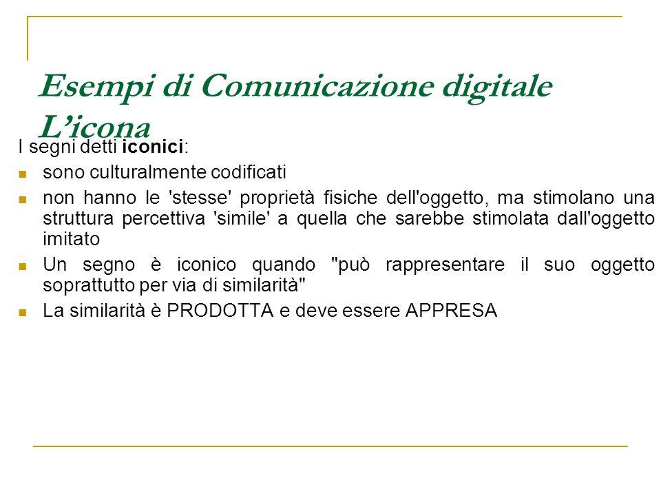 Esempi di Comunicazione digitale L'icona