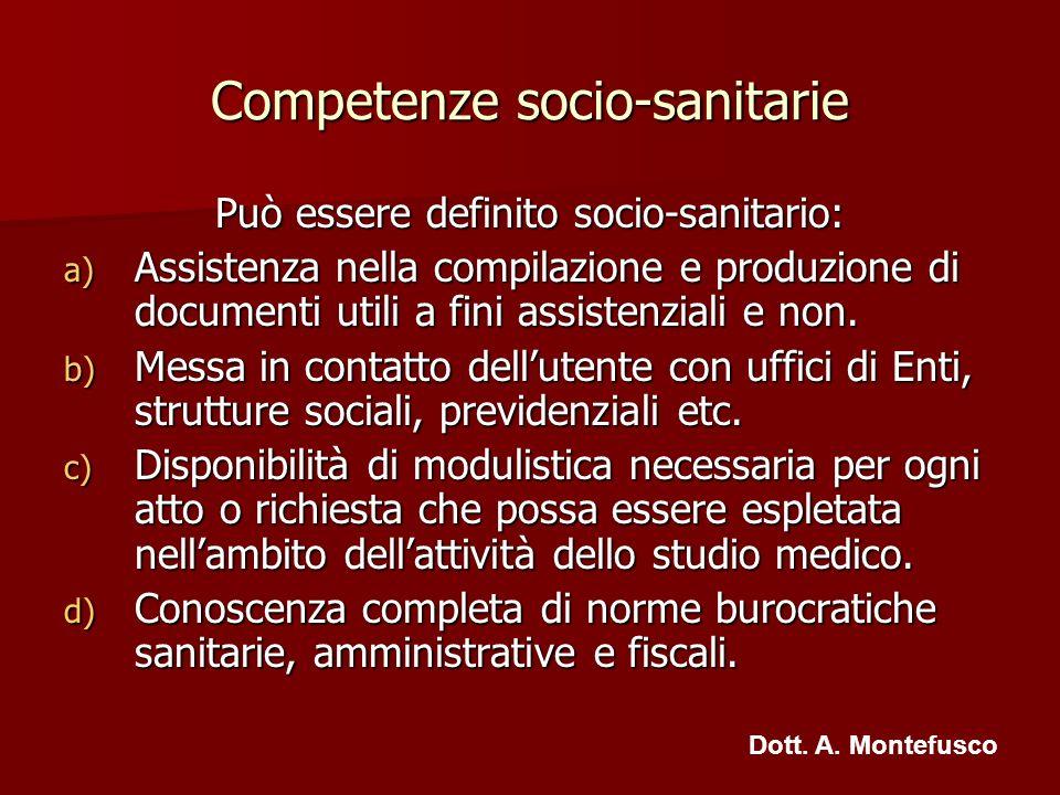 Competenze socio-sanitarie