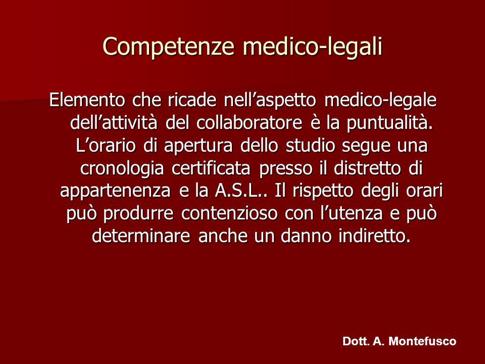 Competenze medico-legali