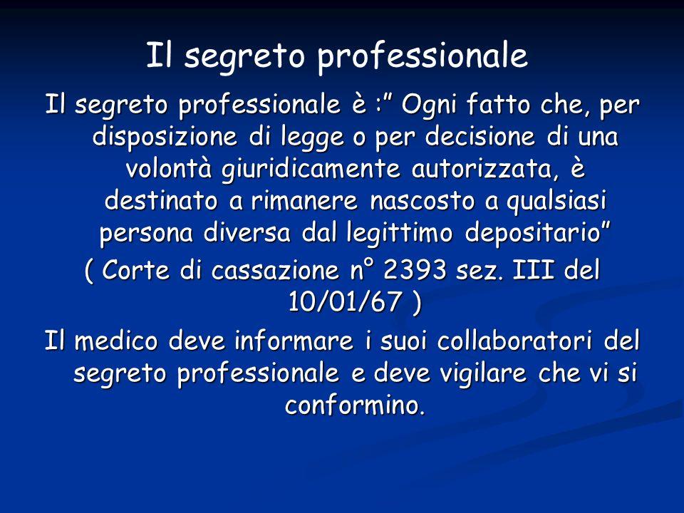Il segreto professionale