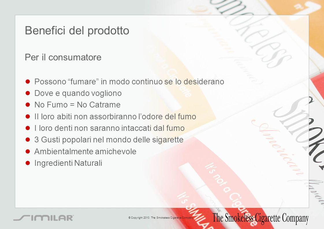 Benefici del prodotto Per il consumatore