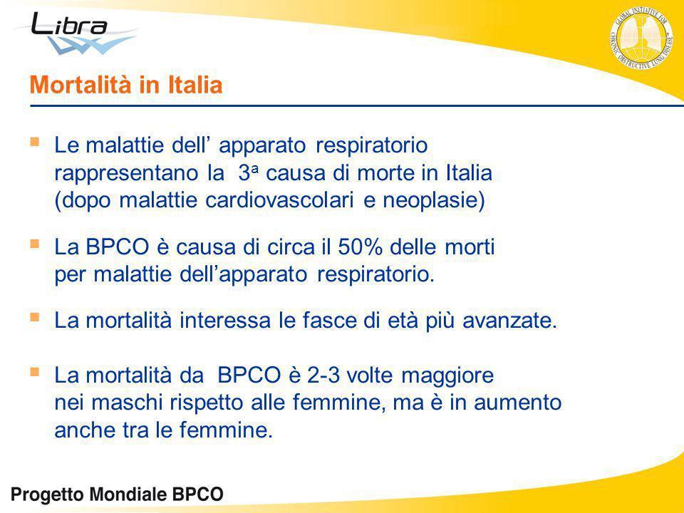 Mortalità in Italia Le malattie dell' apparato respiratorio