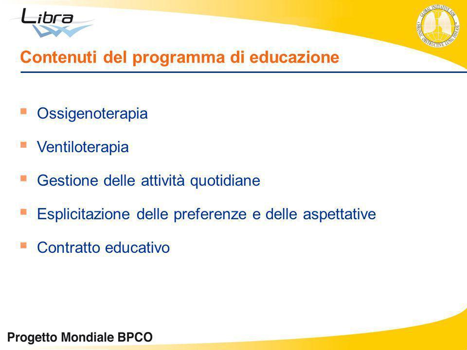 Contenuti del programma di educazione