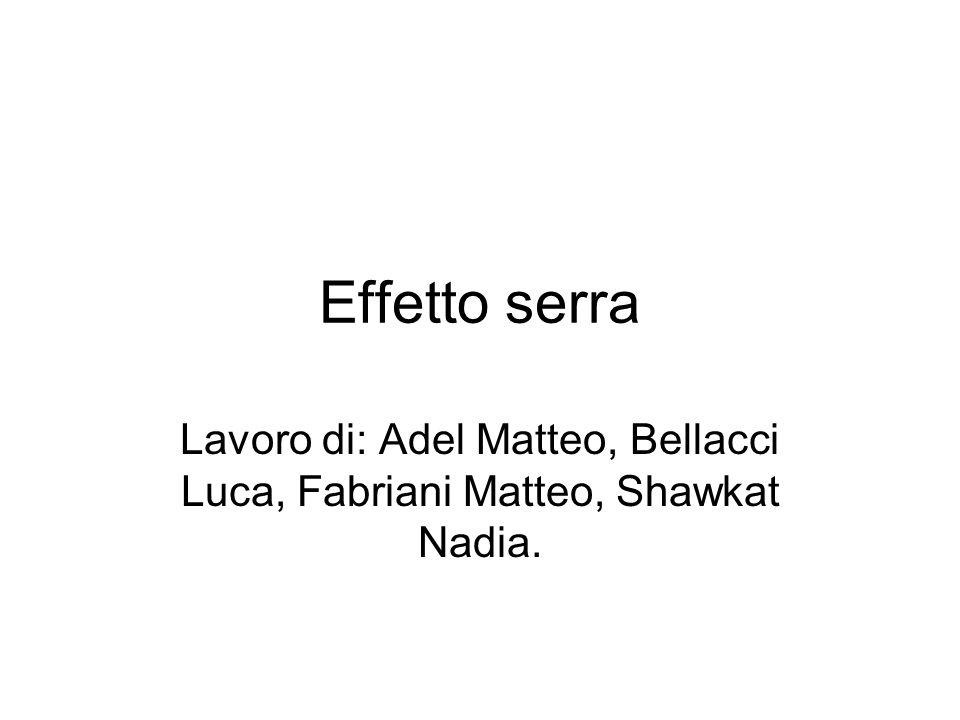 Lavoro di: Adel Matteo, Bellacci Luca, Fabriani Matteo, Shawkat Nadia.