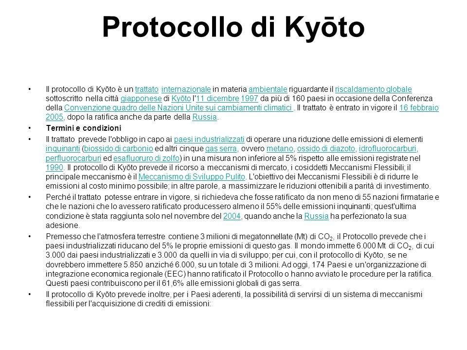 Protocollo di Kyōto