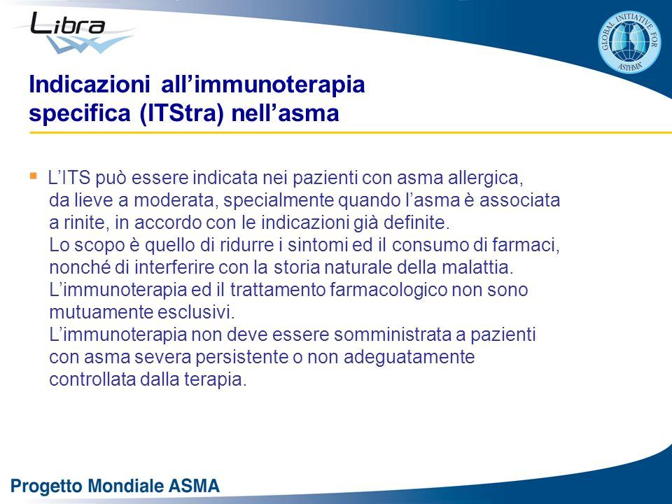 Indicazioni all'immunoterapia specifica (ITStra) nell'asma