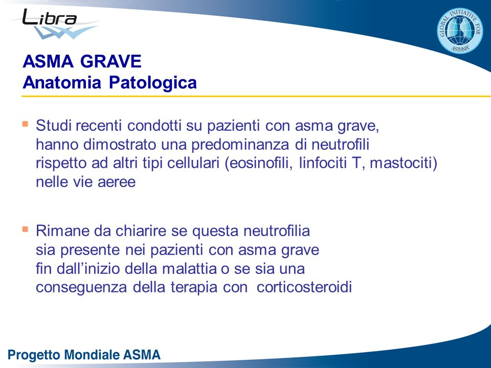 ASMA GRAVE Anatomia Patologica