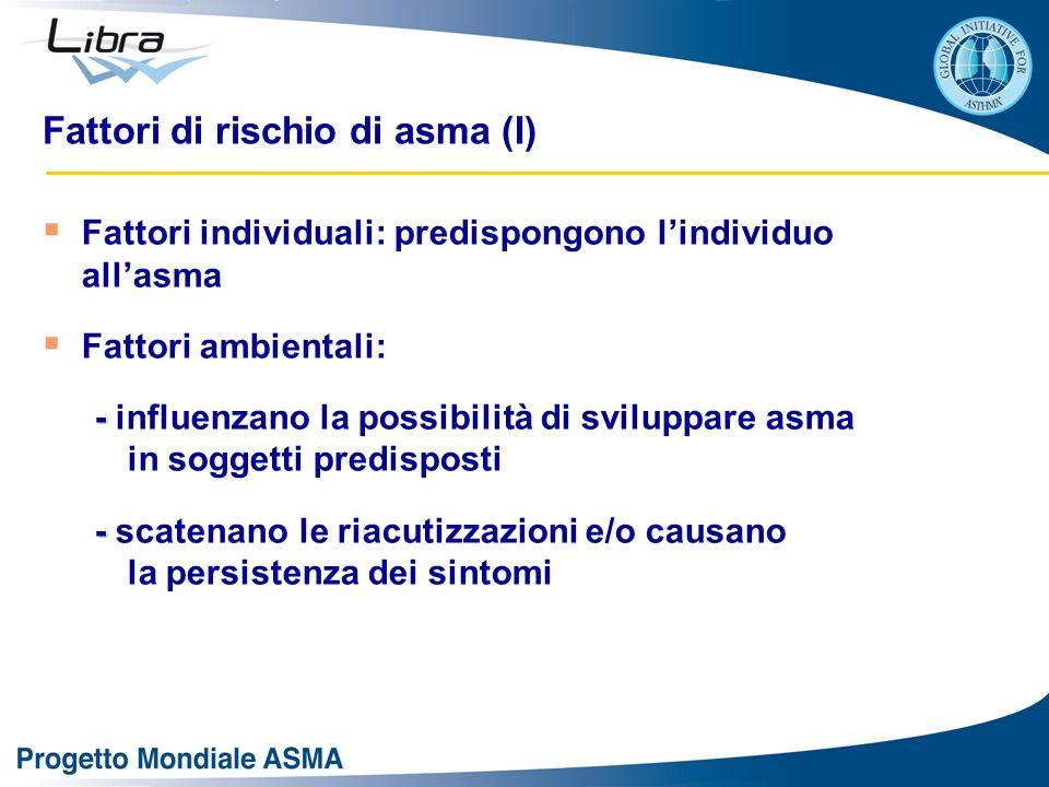 Fattori di rischio di asma (I)