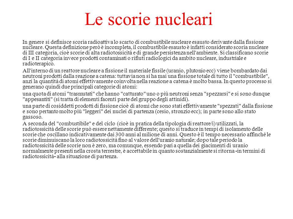 Le scorie nucleari