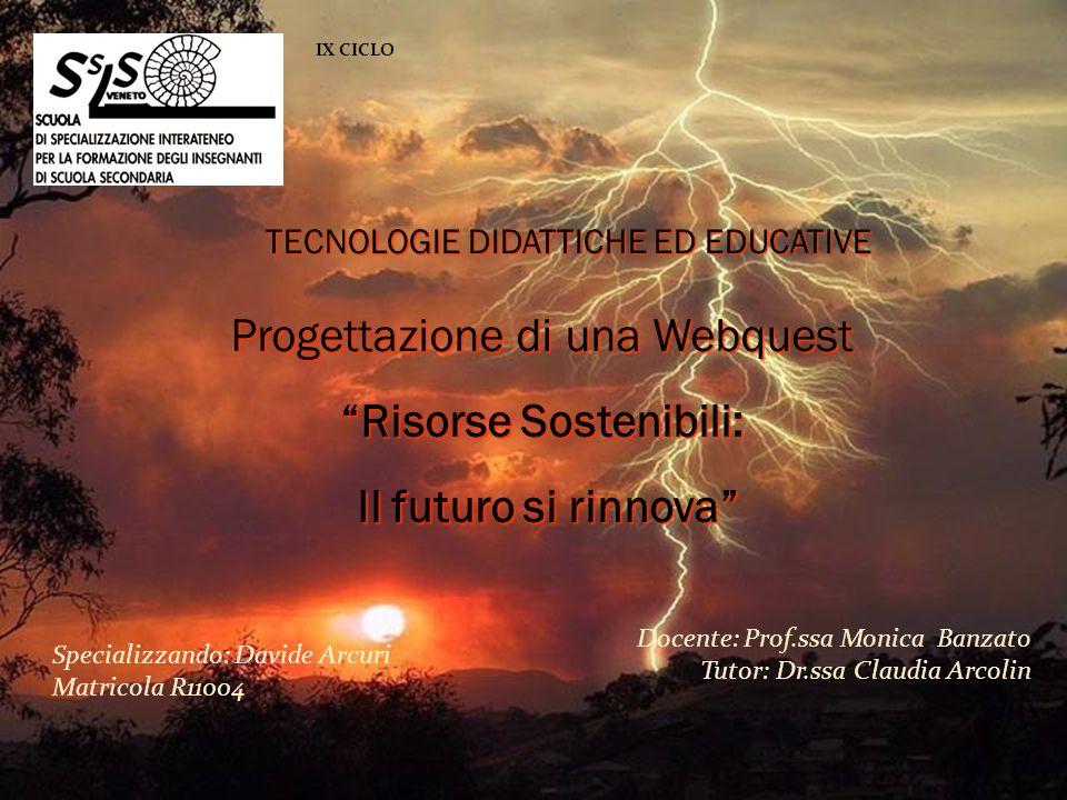 Risorse Sostenibili: