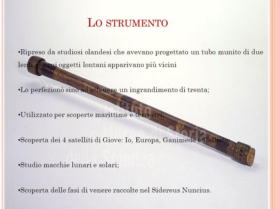 Lo strumento Ripreso da studiosi olandesi che avevano progettato un tubo munito di due lenti per cui oggetti lontani apparivano più vicini.