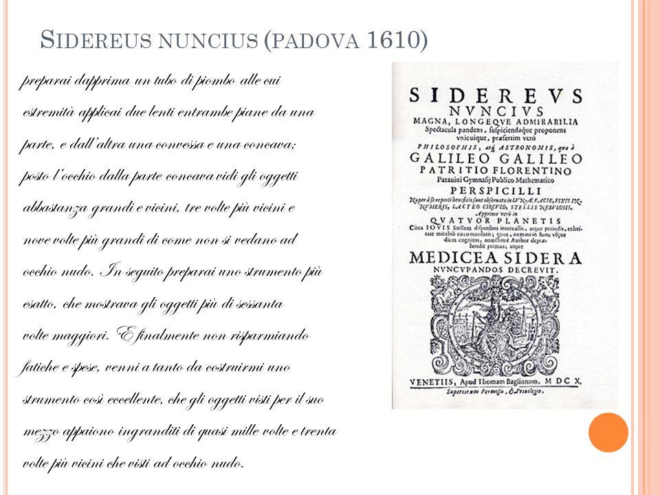 Sidereus nuncius (padova 1610)