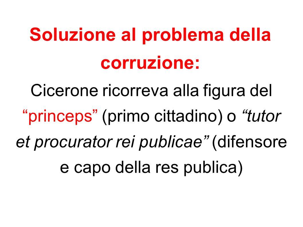 Soluzione al problema della corruzione: