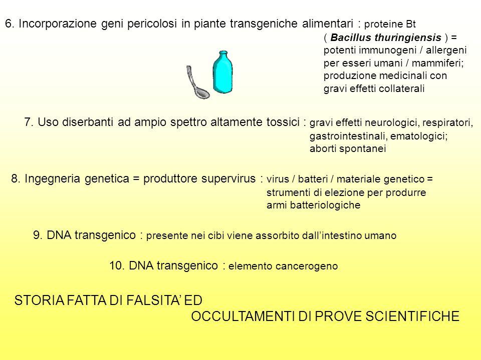 STORIA FATTA DI FALSITA' ED OCCULTAMENTI DI PROVE SCIENTIFICHE