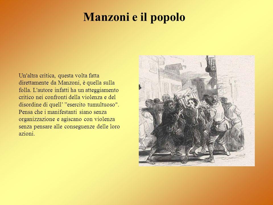 Manzoni e il popolo