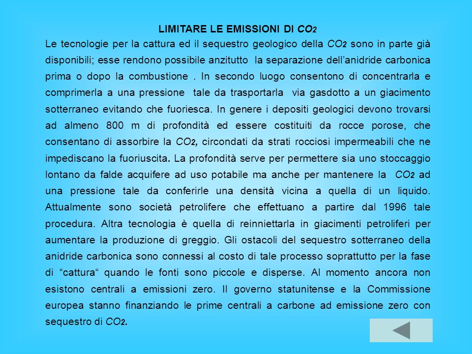 LIMITARE LE EMISSIONI DI CO2