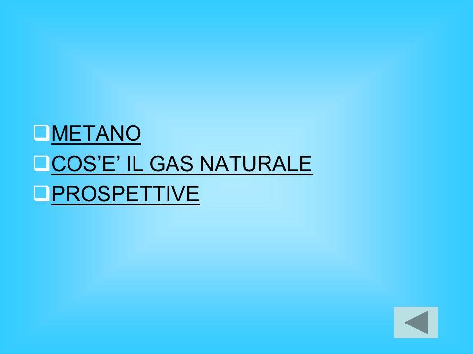 METANO COS'E' IL GAS NATURALE PROSPETTIVE