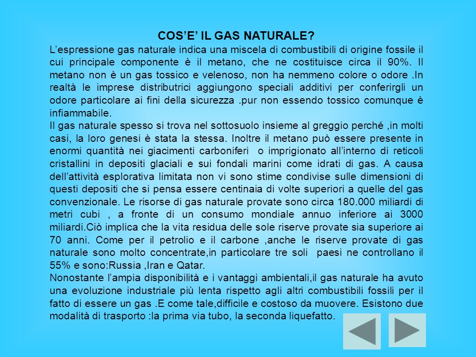 COS'E' IL GAS NATURALE