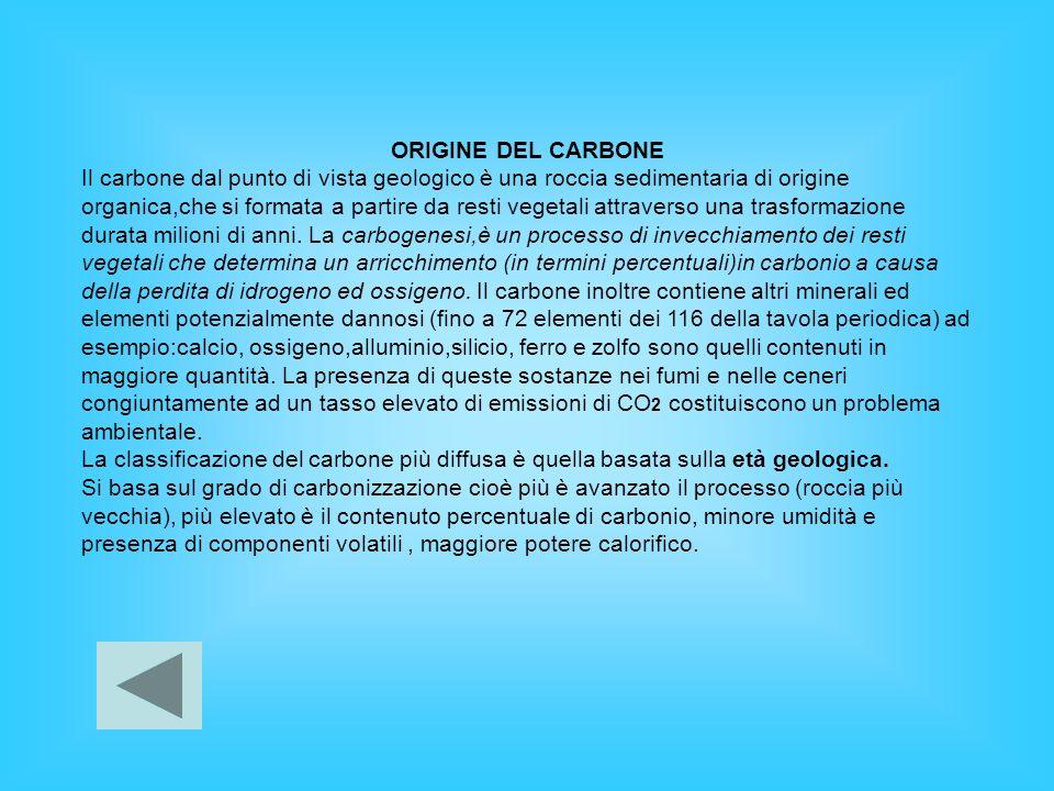 ORIGINE DEL CARBONE