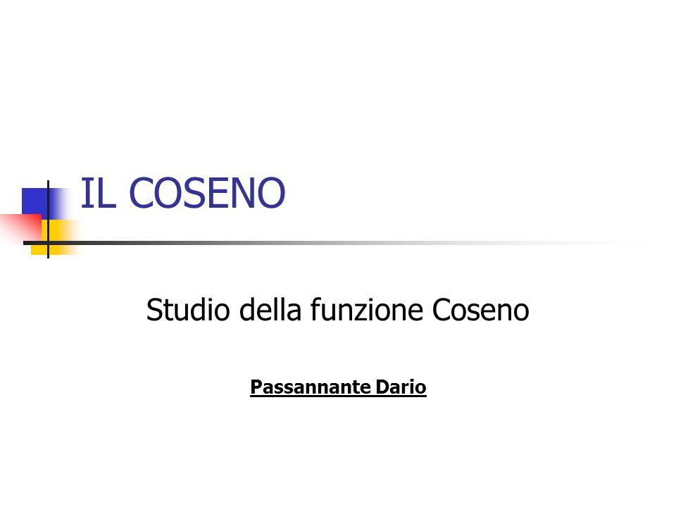 Studio della funzione Coseno Passannante Dario
