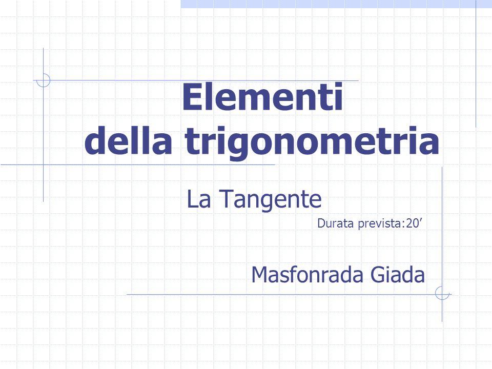 Elementi della trigonometria